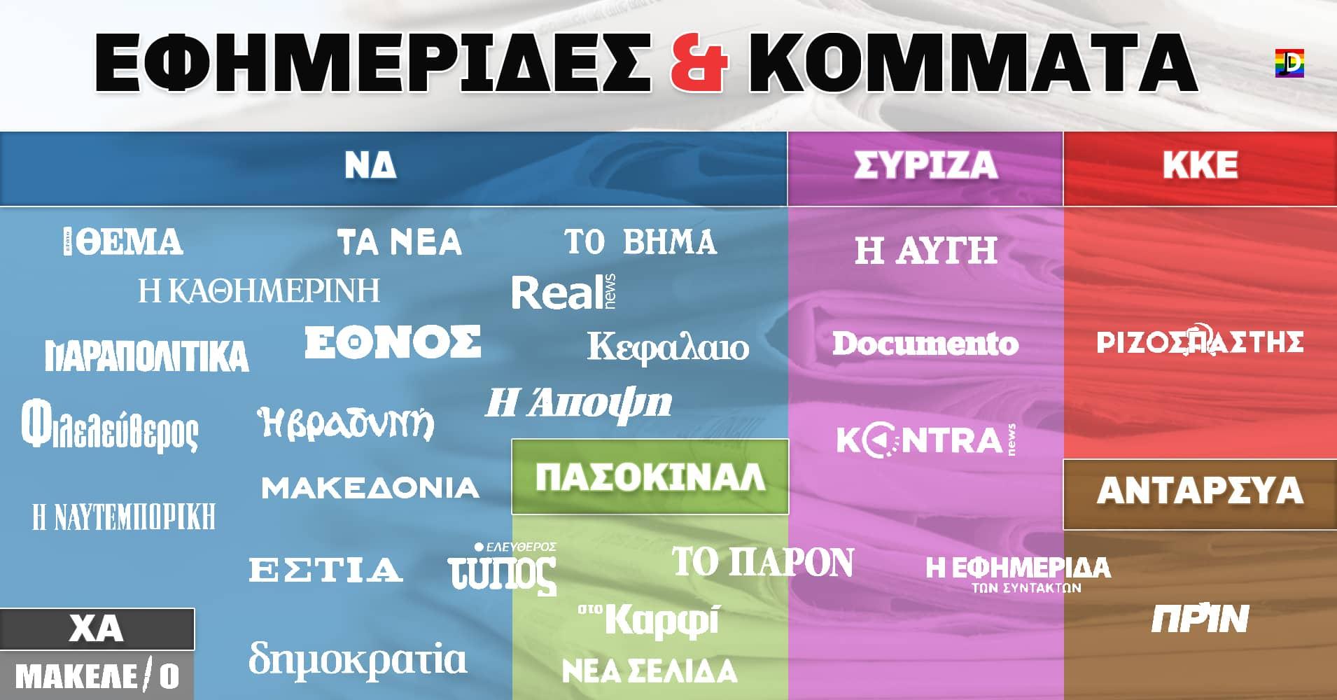 Τα Κόμματα και οι Εφημερίδες